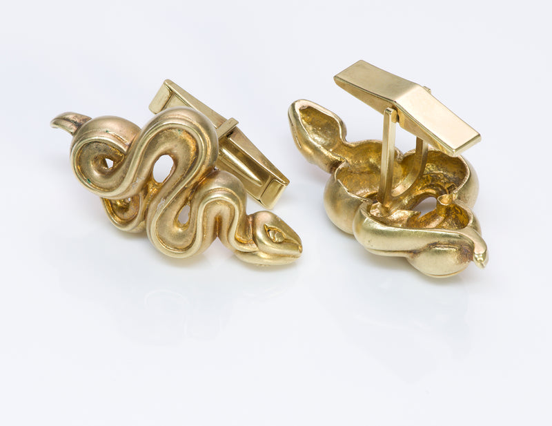 Barry Kieselstein-Cord 18 Gold Snake Cufflinks