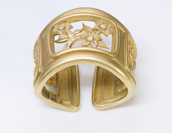 Barry Kieselstein-Cord Gold Diamond Cuff Bracelet