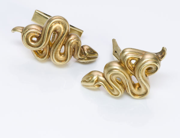 Barry Kieselstein-Cord Gold Snake Cufflinks