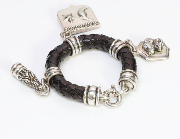 Barry Kieselstein-Cord Silver Charm Leather Bracelet 1