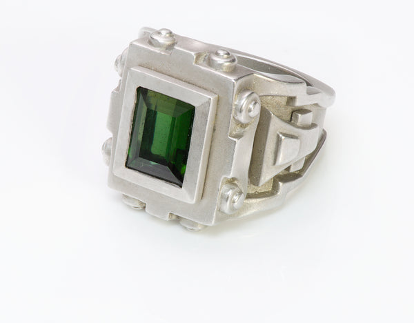 Barry Kieselstein-Cord Platinum Tourmaline Ring