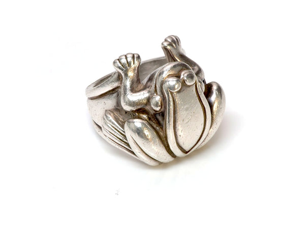 Barry Kieselstein-Cord Silver Frog Ring