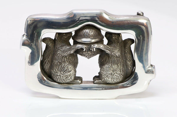 Barry Kieselstein-Cord Sterling Silver Squirrel Acorn Belt Buckle