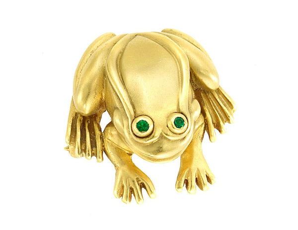 Barry Kieselstein-Cord Gold Frog Brooch Pin