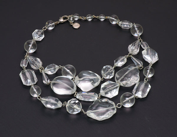 Ben Amun 3 Strand Lucite Necklace