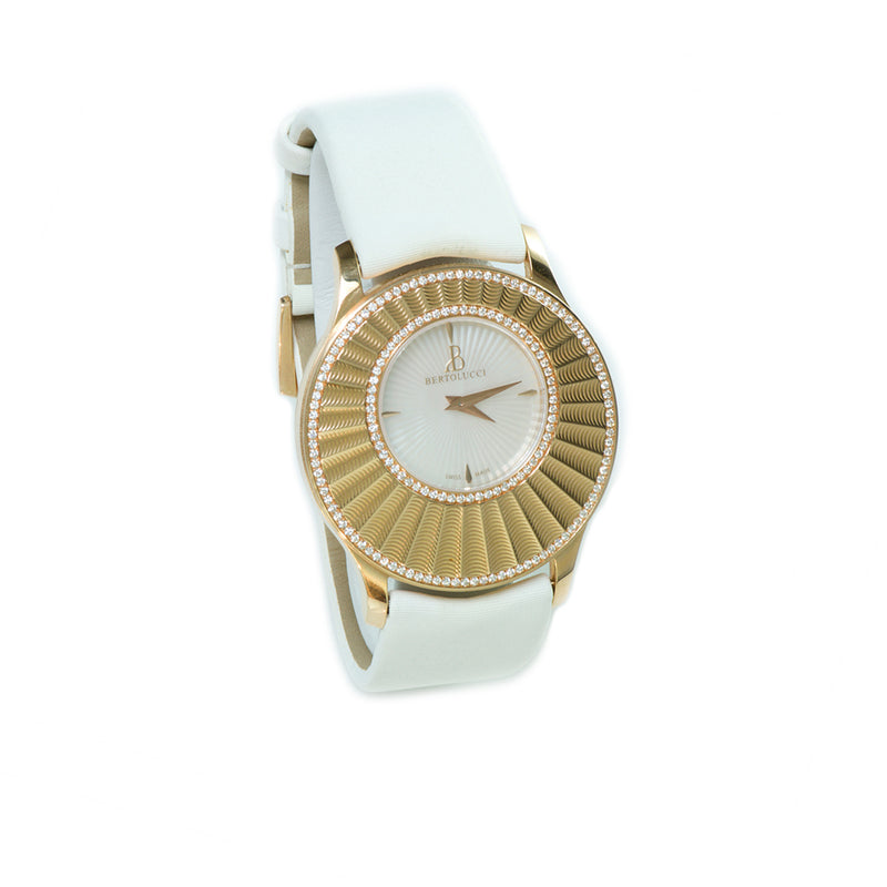 Bertolucci Stria 18K Gold Diamond Watch