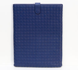 Bottega Veneta Blue Intrecciato Leather Ipad Case