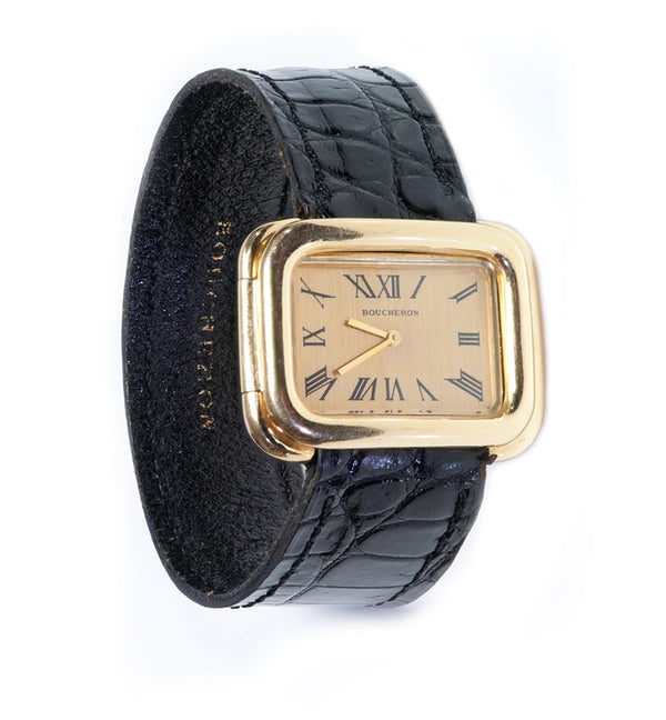 Boucheron Paris Gold Watch Vintage