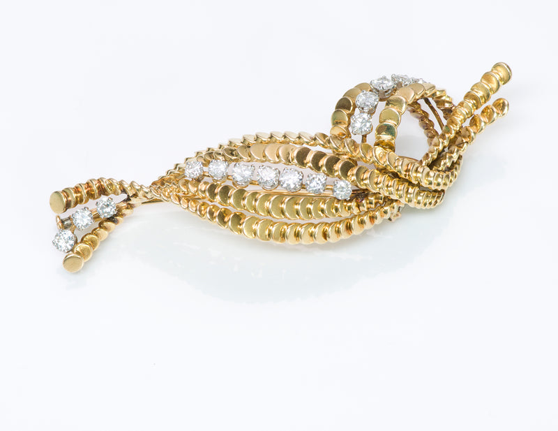 Boucheron Paris Diamond 18K Gold Brooch Pin