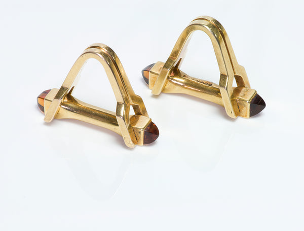 Boucheron Gold Stirrup Cufflinks