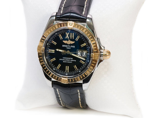 Breitling Cockpit Steel & Gold Watch C49350