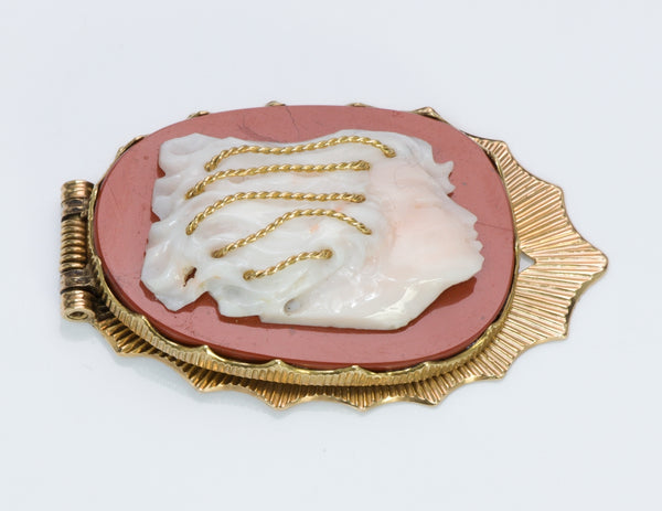 Buccellati Coral & Jasper Gold Money Clip