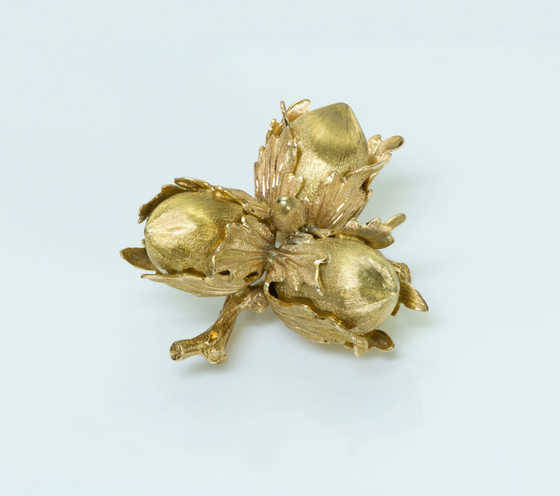 Buccellati Jewelry Acorn Gold Brooch