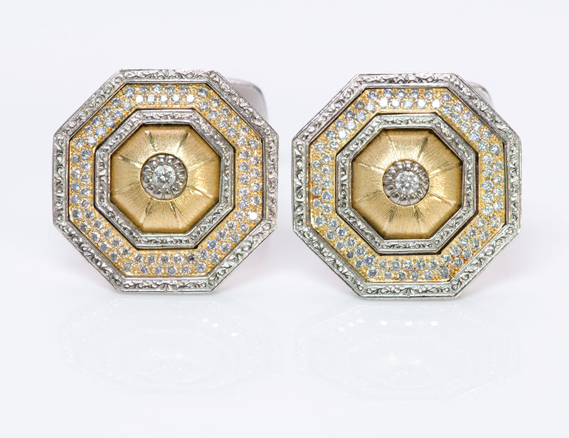 Buccellati 18K Gold Diamond Cufflinks