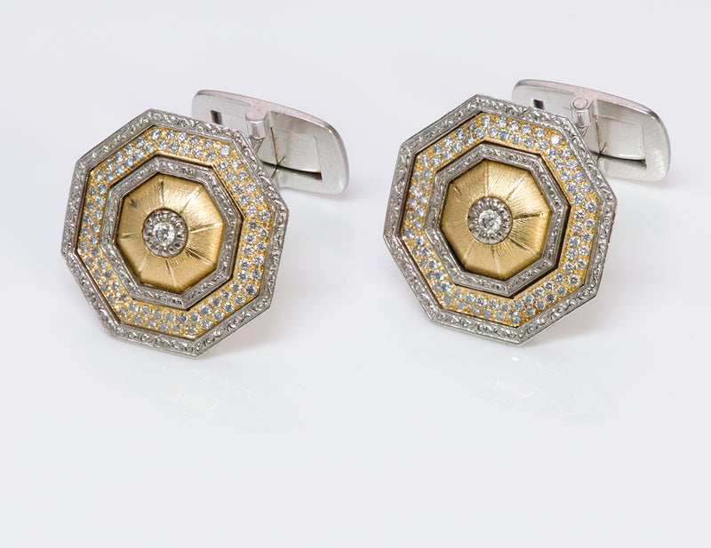 Gianmaria Buccellati 18K Gold Diamond Cufflinks
