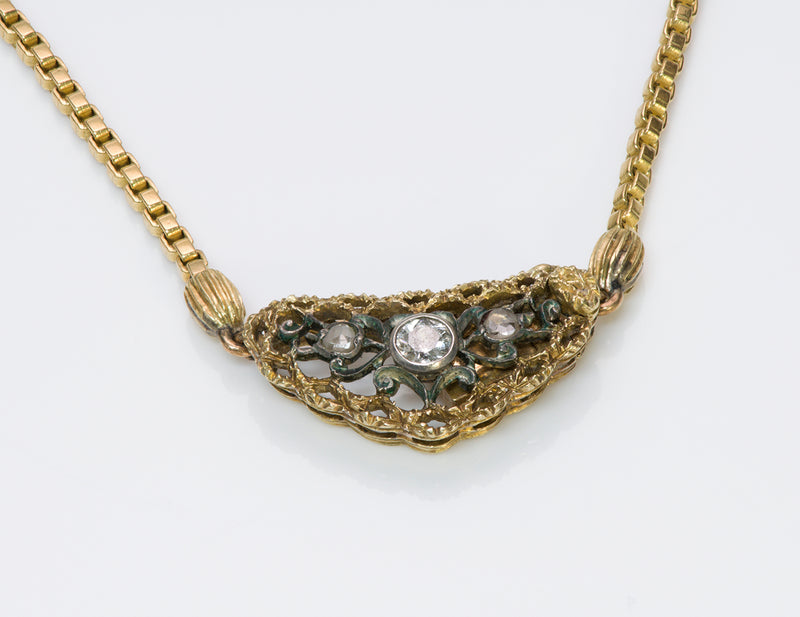 Buccellati 18K Gold Diamond Pendant