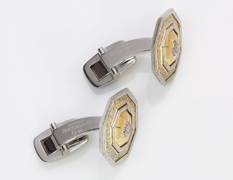 Gianmaria Buccellati 18K Gold Diamond Cufflinks 3