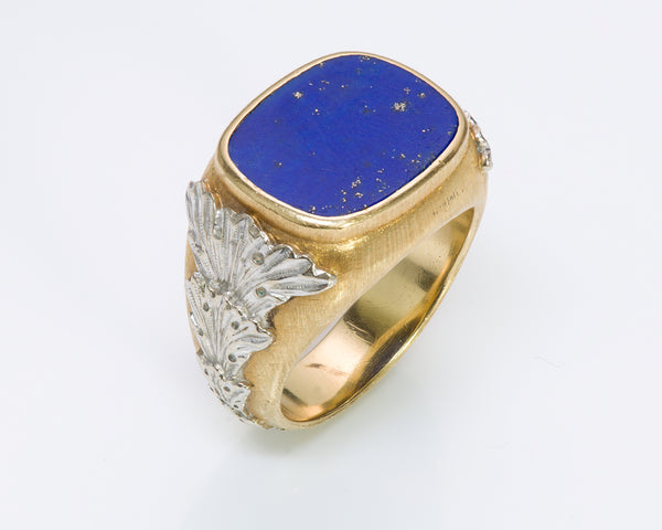 Buccellati Gold Lapis Men's Ring