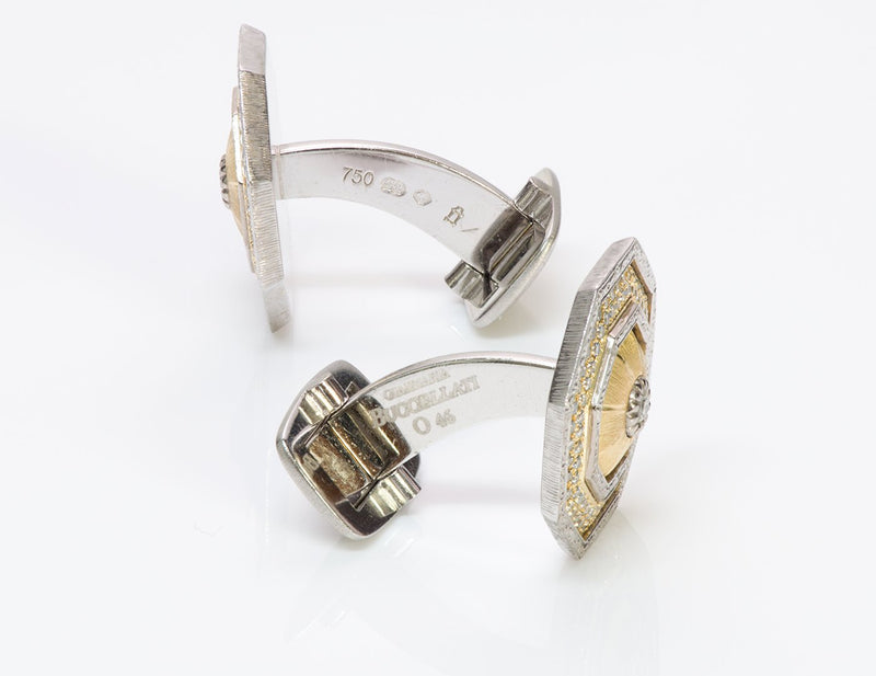 Gianmaria Buccellati 18K Gold Diamond Cufflinks 2