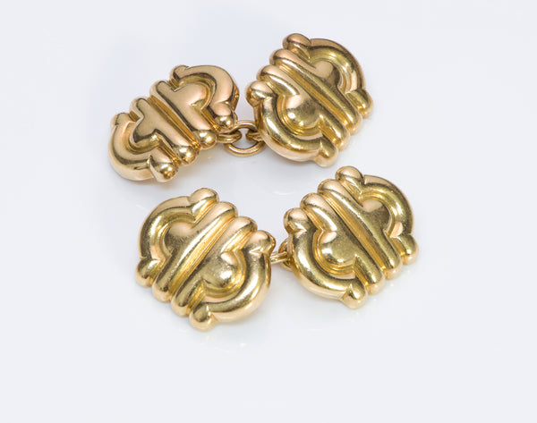 Bulgari Parentesi 18K Gold Cufflinks