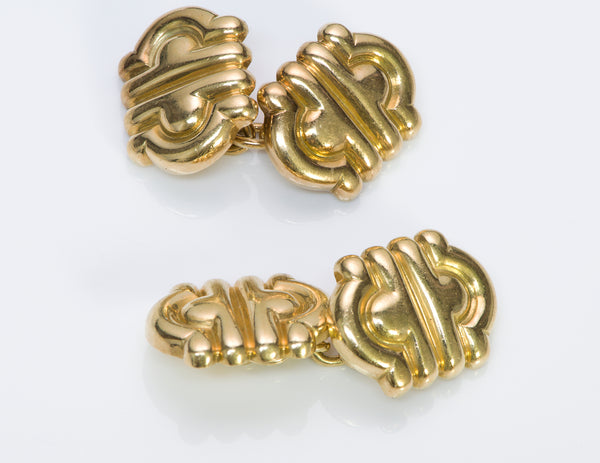 Bulgari Parentesi Gold Cufflinks