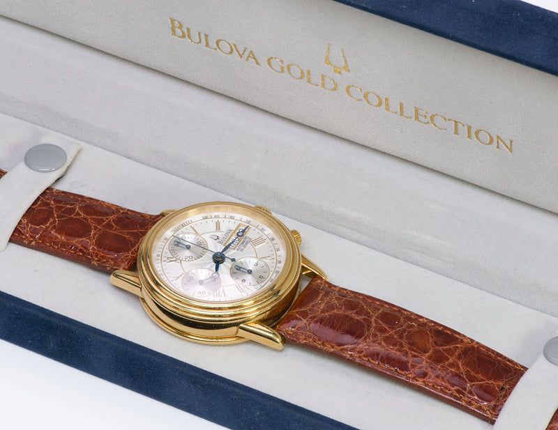 Bulova 18K Gold Automatic Watch 60C00