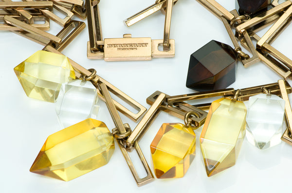 Burberry Prorsum Crystal Chain Necklace
