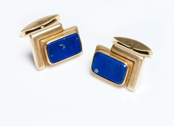 Burle Marx 18K Yellow Gold Cufflinks