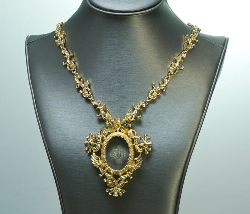 Christian Dior Boutique Victorian Necklace Intaglio Set