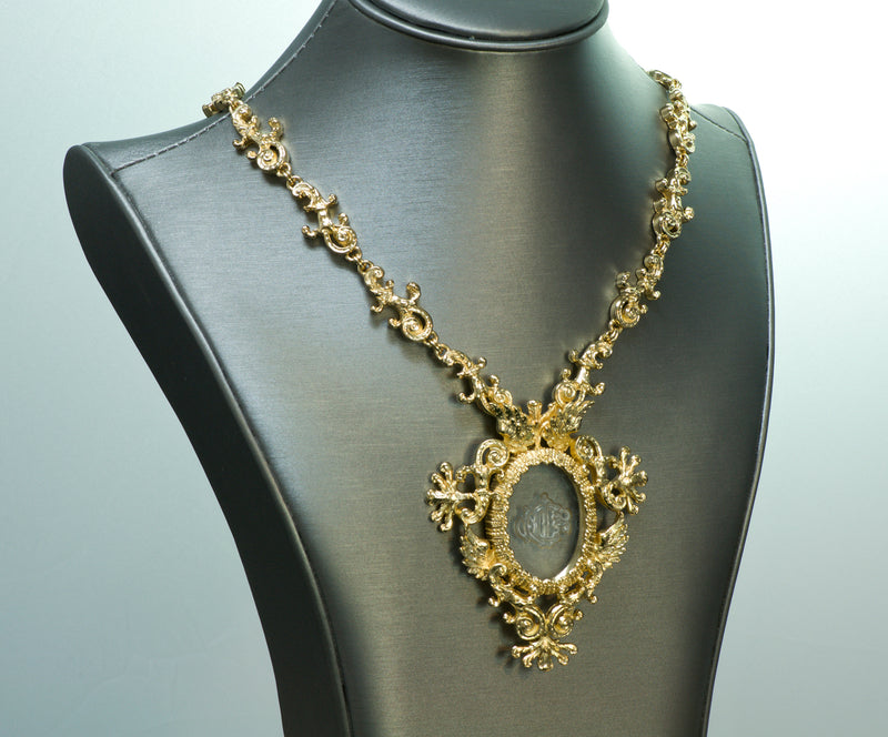 Christian Dior Boutique Victorian Style Necklace Intaglio