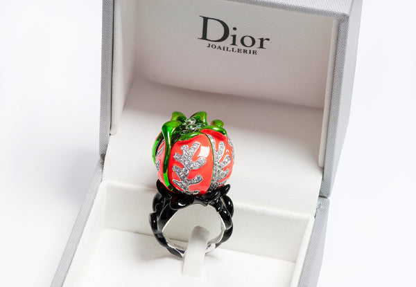 Christian Dior Milly Carnivora 18K Gold Diamond Ring