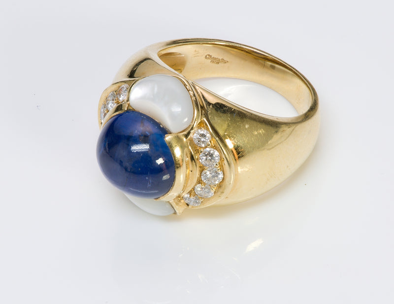 Chantecler Capri 18K Gold Sapphire Diamond Ring