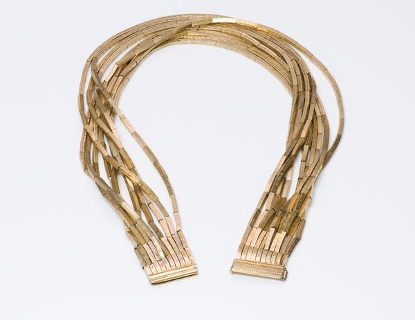 Christian Dior Gold Tone Collar Necklace