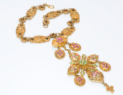 Christian Lacroix Couture Baroque Style Crystal Necklace