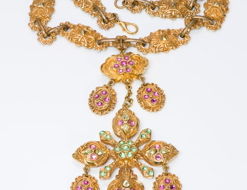Christian Lacroix Couture Baroque Style Crystal Necklace 1