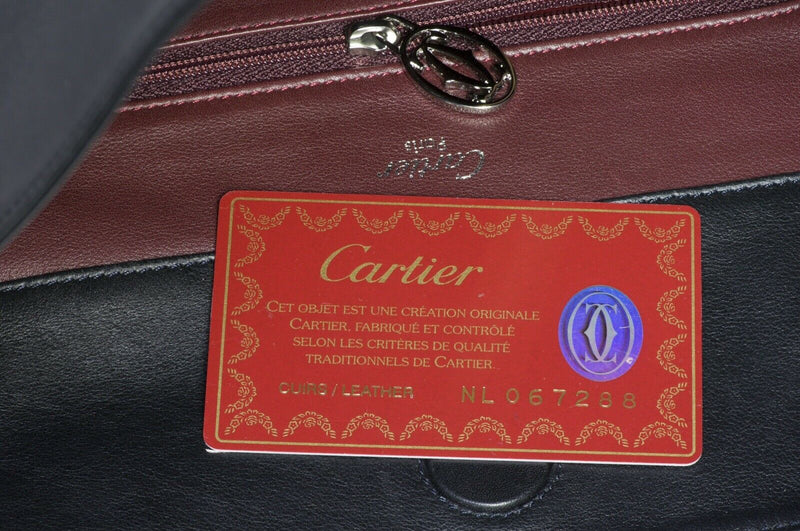 CARTIER Paris Black Leather Trinity Women's Shoulder Bag 2