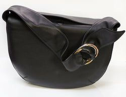 CARTIER Paris Black Leather Trinity Women's Shoulder Bag