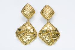 Chanel Quilted Bow Earrings