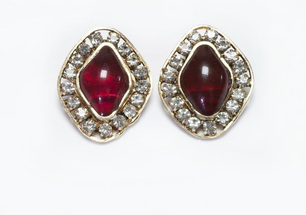 CHANEL Gripoix Poured Glass Earrings