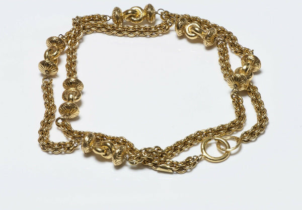 CHANEL Paris 1970's Byzantine Style Sautoir Chain Necklace