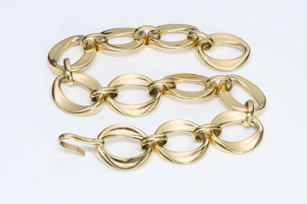 Chanel 1980's Gold Tone Chain Link Choker Necklace
