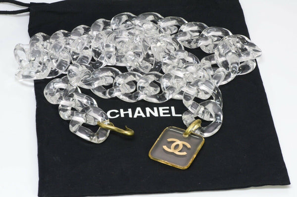 Chanel CC 1995 Wide Lucite Chain Link Belt 1