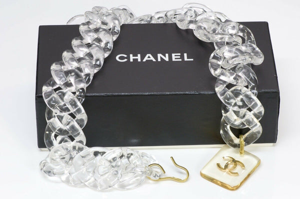 Chanel CC 1995 Wide Lucite Chain Link Belt