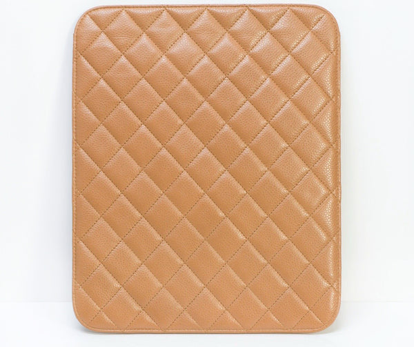 CHANEL CC Quilted Leather iPad Cover Case