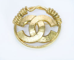 CHANEL CC Spring 1994 Wire Round Brooch