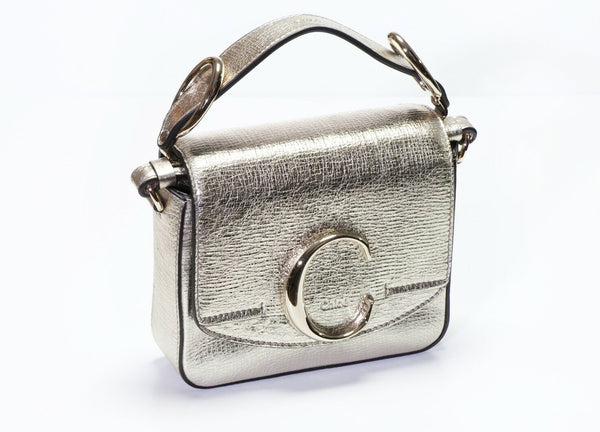 CHLOE C Metallic Leather Mini Crossbody Bag