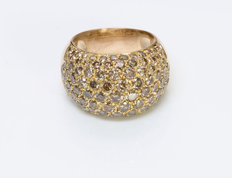 Luca Carati 18 Gold Brown Diamond Ring
