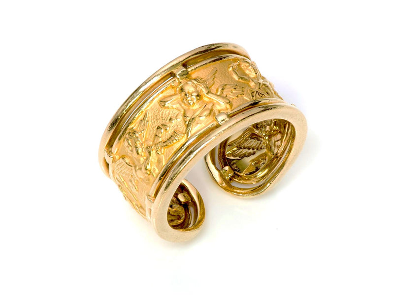 Carrera y Carrera Ronda Angels 18K Yellow Gold Ring