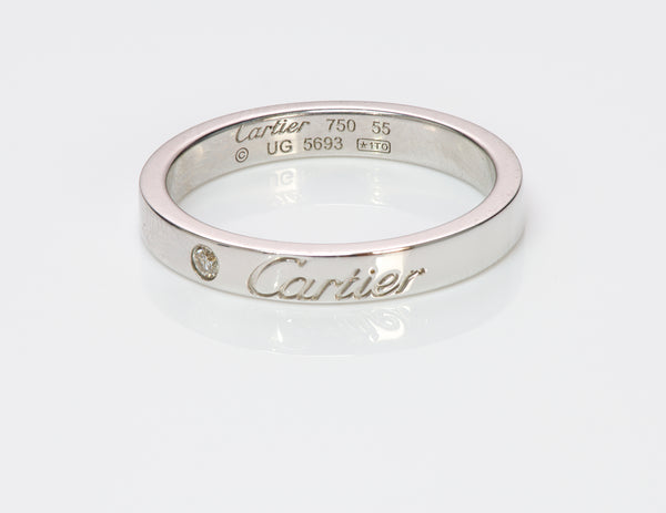 C De Cartier Diamond Wedding Band