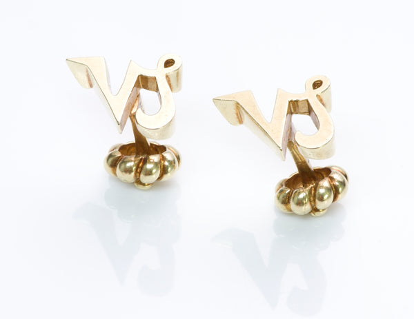 Cartier Gold Capricorn Zodiac Cufflinks